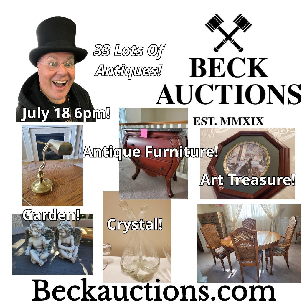July 18th Estate Antique Auction