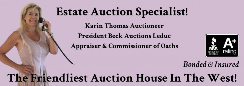 Karin Thomas Estate Auctioneer Leduc