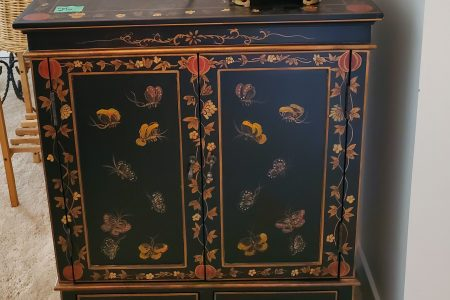 Asian Painted Cabinet
