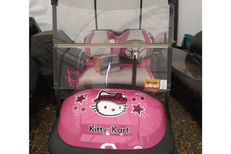 Hello Kitty Golf Cart