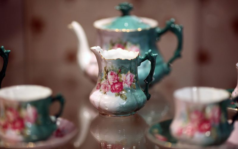 tea set, porcelain old